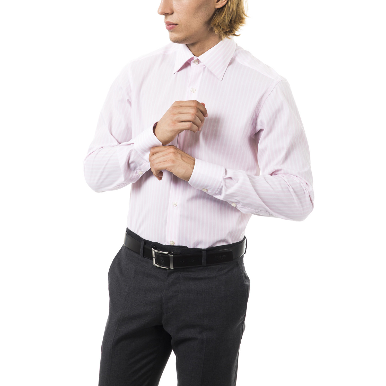 Flavio stretch dress shirt pink 39 uomini italiani for How to stretch a dress shirt