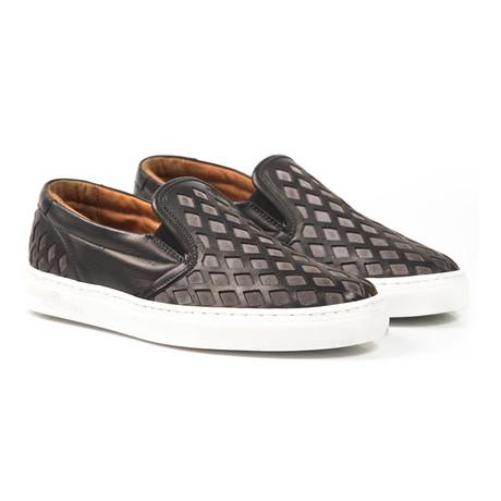 Saul Cut-Out Slip-On Sneaker // Black