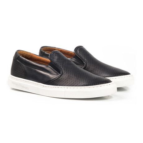 Benny Perforated Slip-On Sneaker // Navy