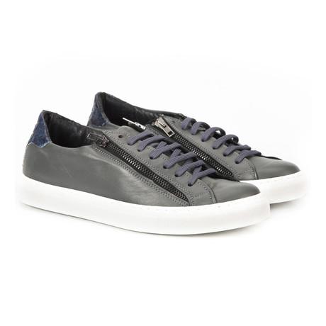 Hanven Zipper Lace-Up Sneaker // Grey