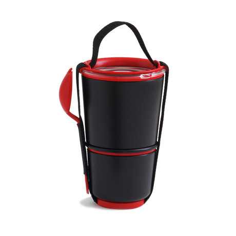 Lunch Pot // Black + Red