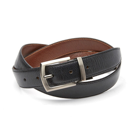 Puccio Reversible Belt // Black + Tan
