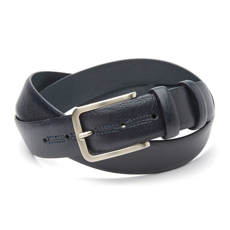 Alphons Top Stitch Belt // Blue