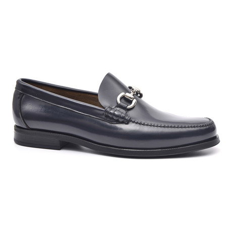 Rubber Sole Metal Ornament Loafer // Blue (Euro: 37)