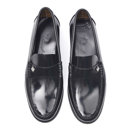 Rubber Sole Ornament Loafer // Antic Black