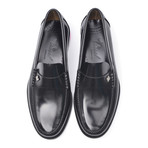 Leather Sole Ornament Loafer // Antic Black (Euro: 38)