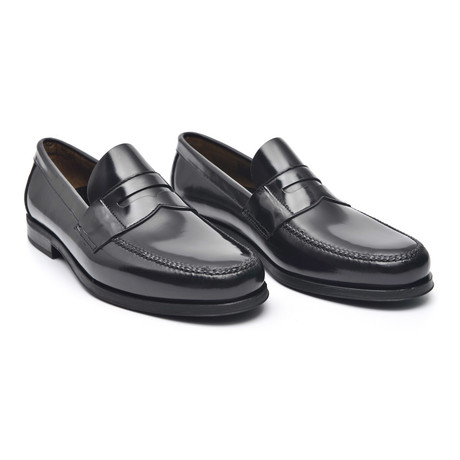 Rubber Sole Banded Loafer // Antic Black