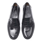 Leather Sole Banded Loafer // Antic Black (Euro: 40)