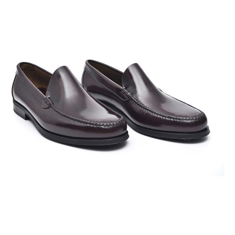Rubber Sole Slip-On Loafer // Antic Bordeaux