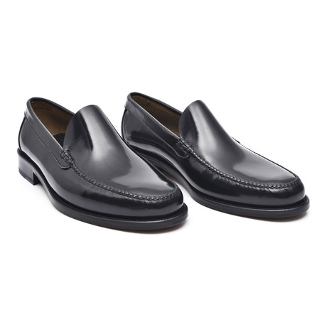 Leather Sole Slip-On Loafer // Antic Black