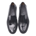 Leather Sole Slip-On Loafer // Antic Black (Euro: 45)