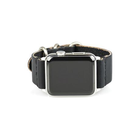 Apple Watch Strap // Black + Silver Sport (Small/Medium)