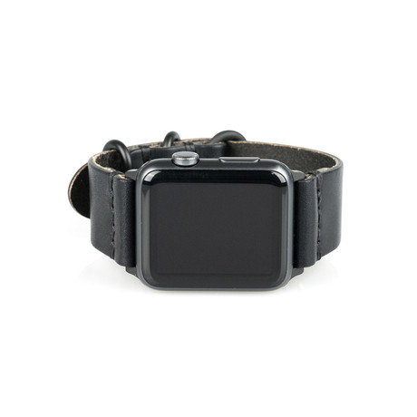 Arrow And Board // Apple Watch Strap // Black + Space Grey (Small/Medium)