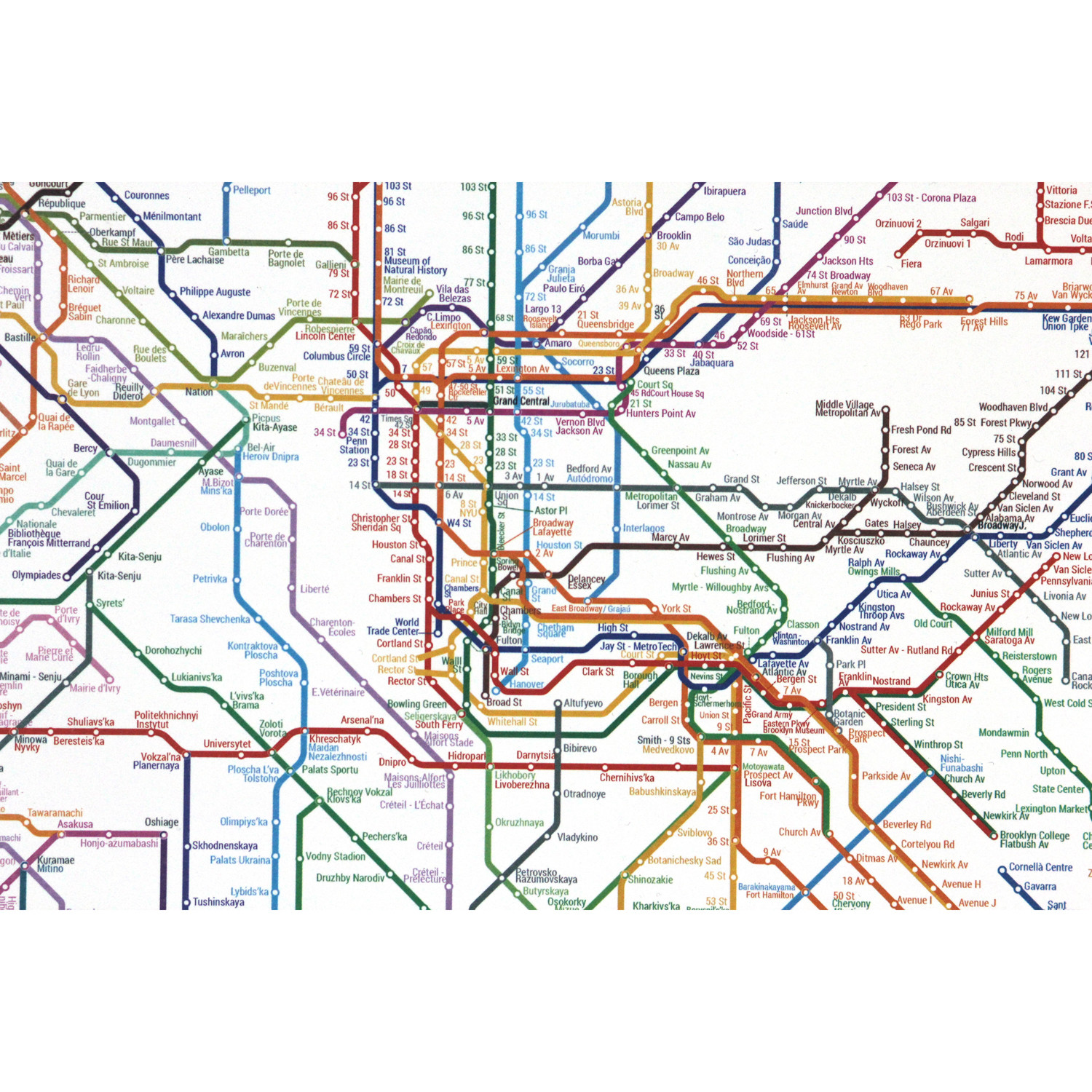 World metro map small artcodedata touch of modern world metro map small gumiabroncs Images