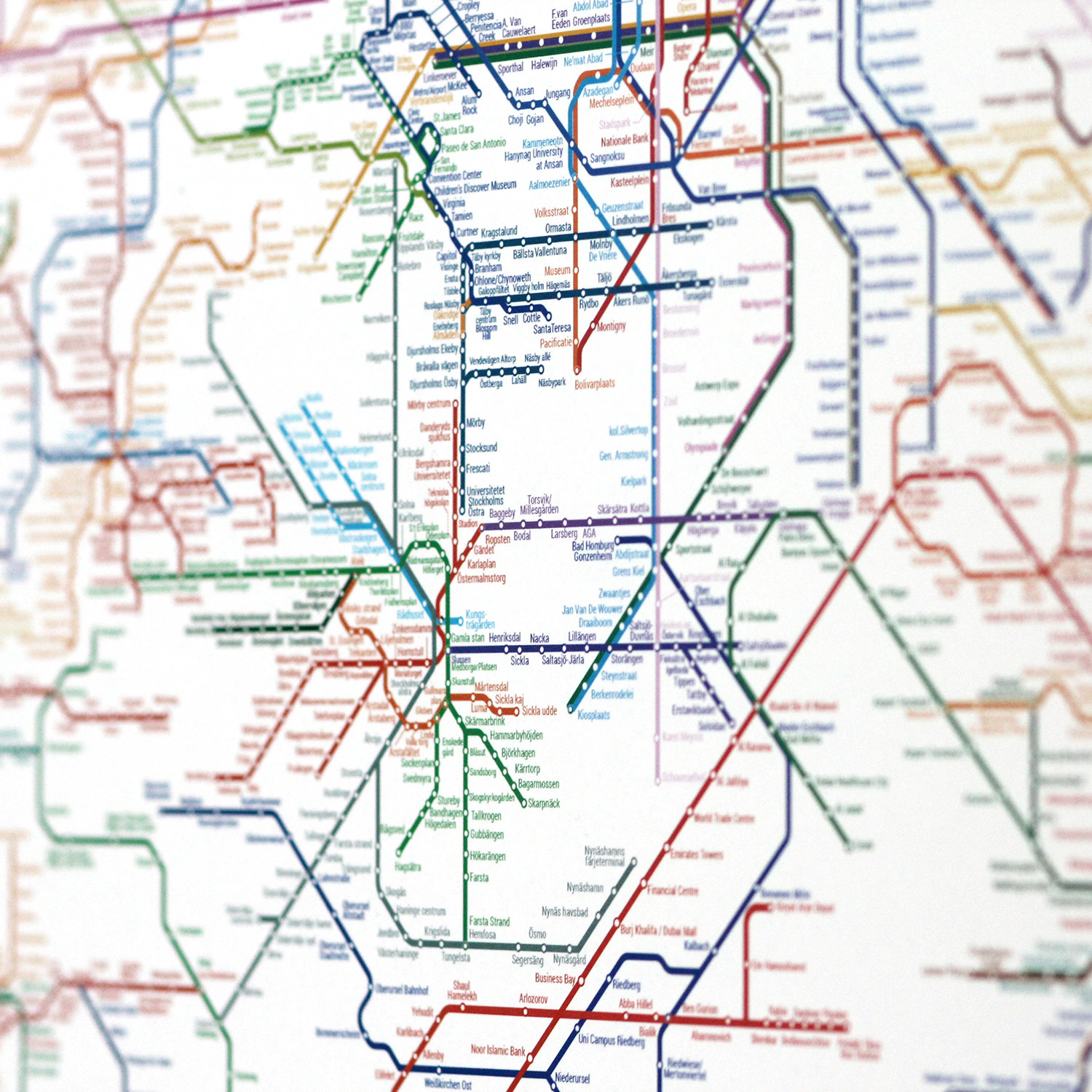 World metro map small artcodedata touch of modern world metro map small gumiabroncs Choice Image