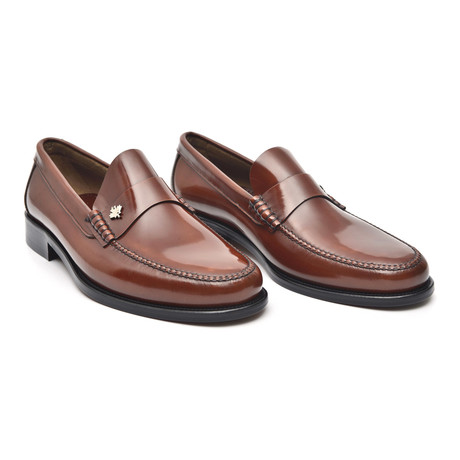 Leather Sole Ornament Loafer // Chestnut