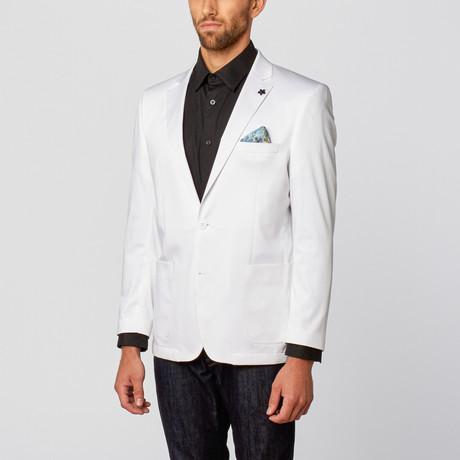 Solid Slim-Fit Blazer // White