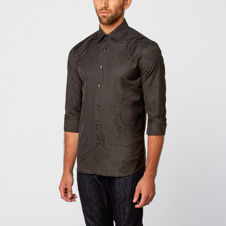 Jacquard Dress Shirt // Black