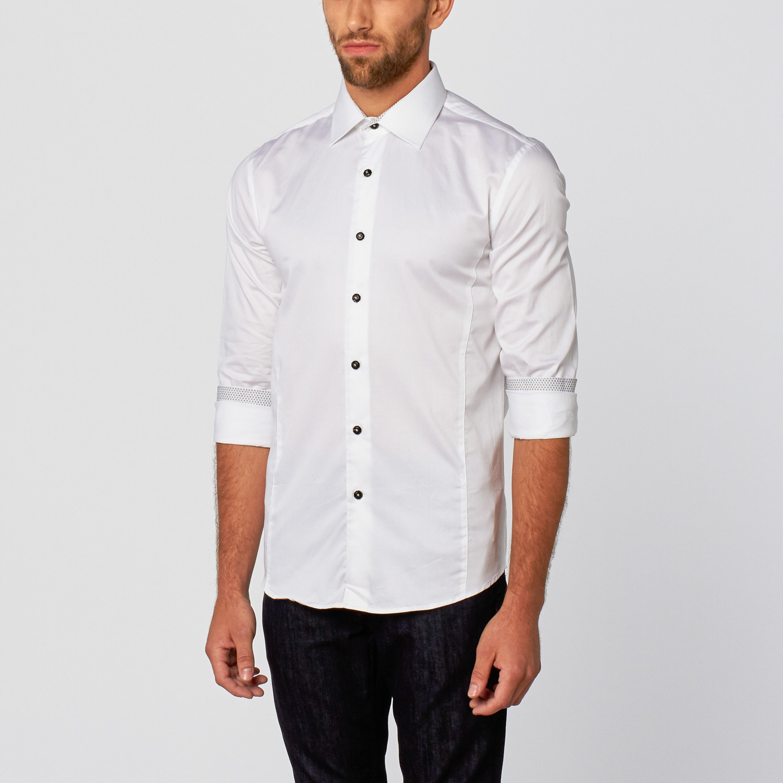 Classic Slim Fit Dress Shirt White Xs Tr Premium