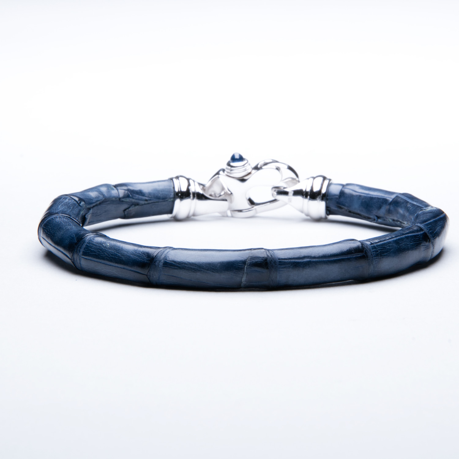 d380c24ed250a Alligator Bracelet // Navy Blue + SIlver - Edgewater Jewelry Group ...