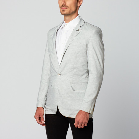 Cotton Blend Blazer //  Lightest Grey