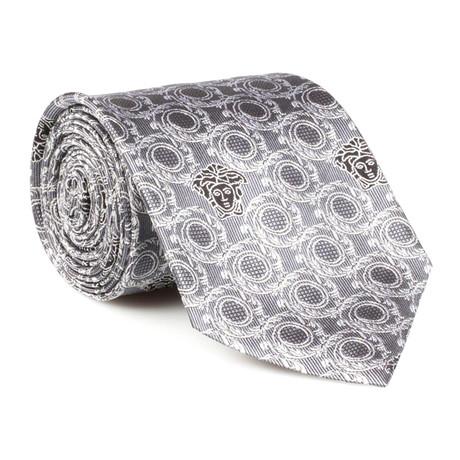 Landon Silk Tie // Silver