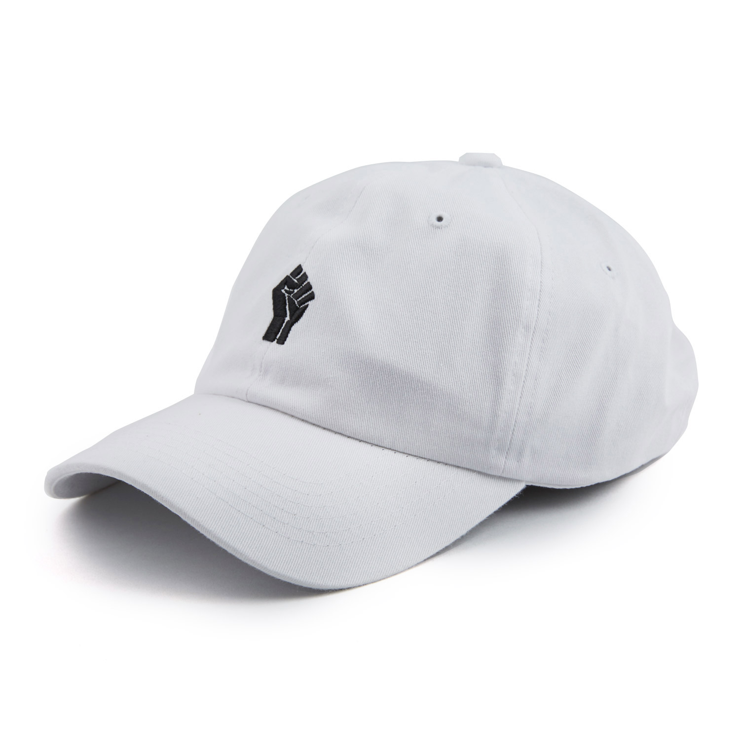 8960e93590 Black Fist Dad Cap    White - Any Memes - Touch of Modern