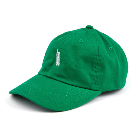 Brick Phone Dad Cap // Green