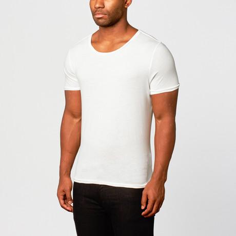 Basic Solid Short-Sleeve Shirt // White // Pack of 2