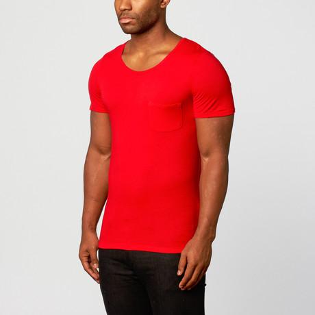 Skull & Bear // Short-Sleeve Shirt // Red // Pack of 2