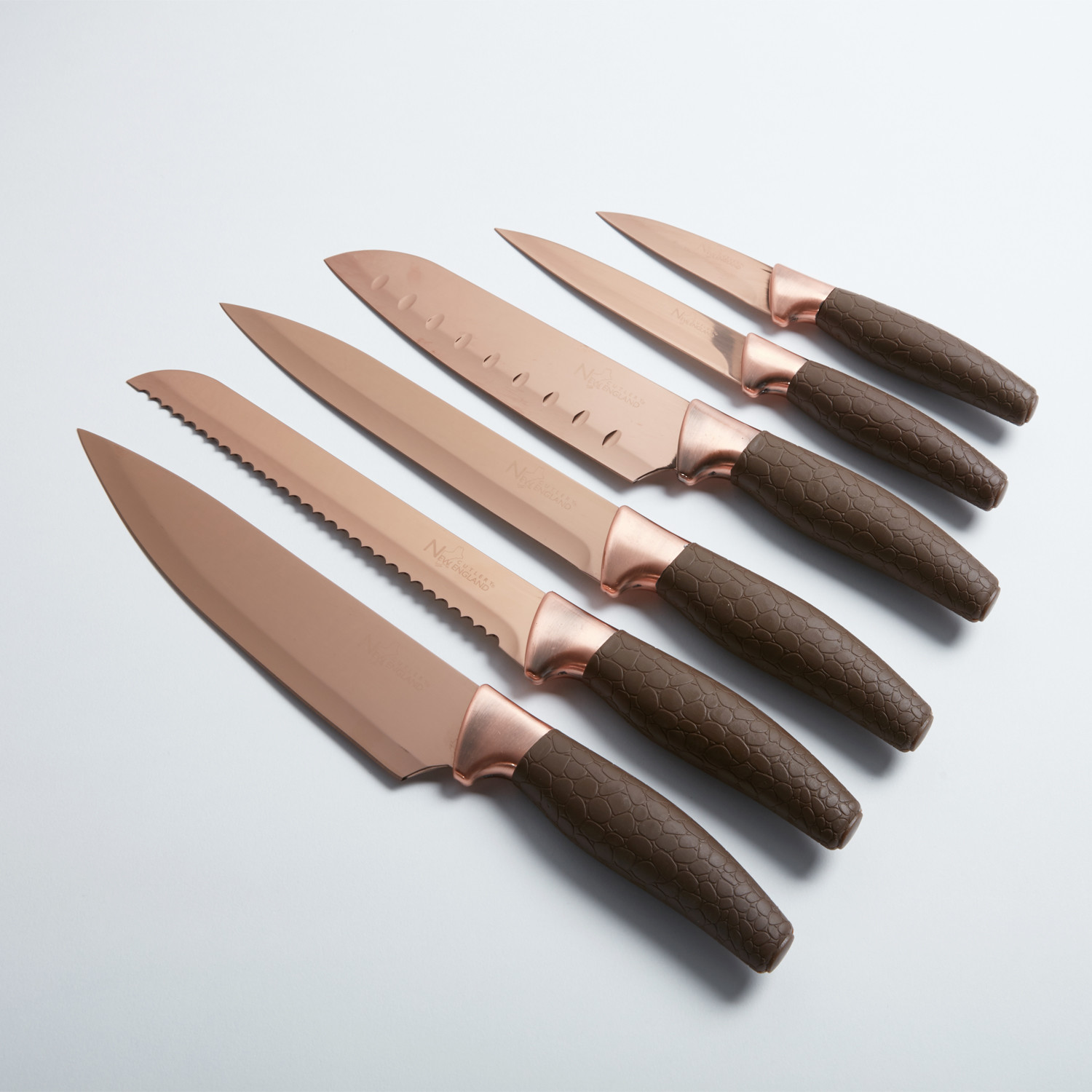 Modern Kitchen Knife Set titanium coated knife set // 7 piece - new england cutlery - touch