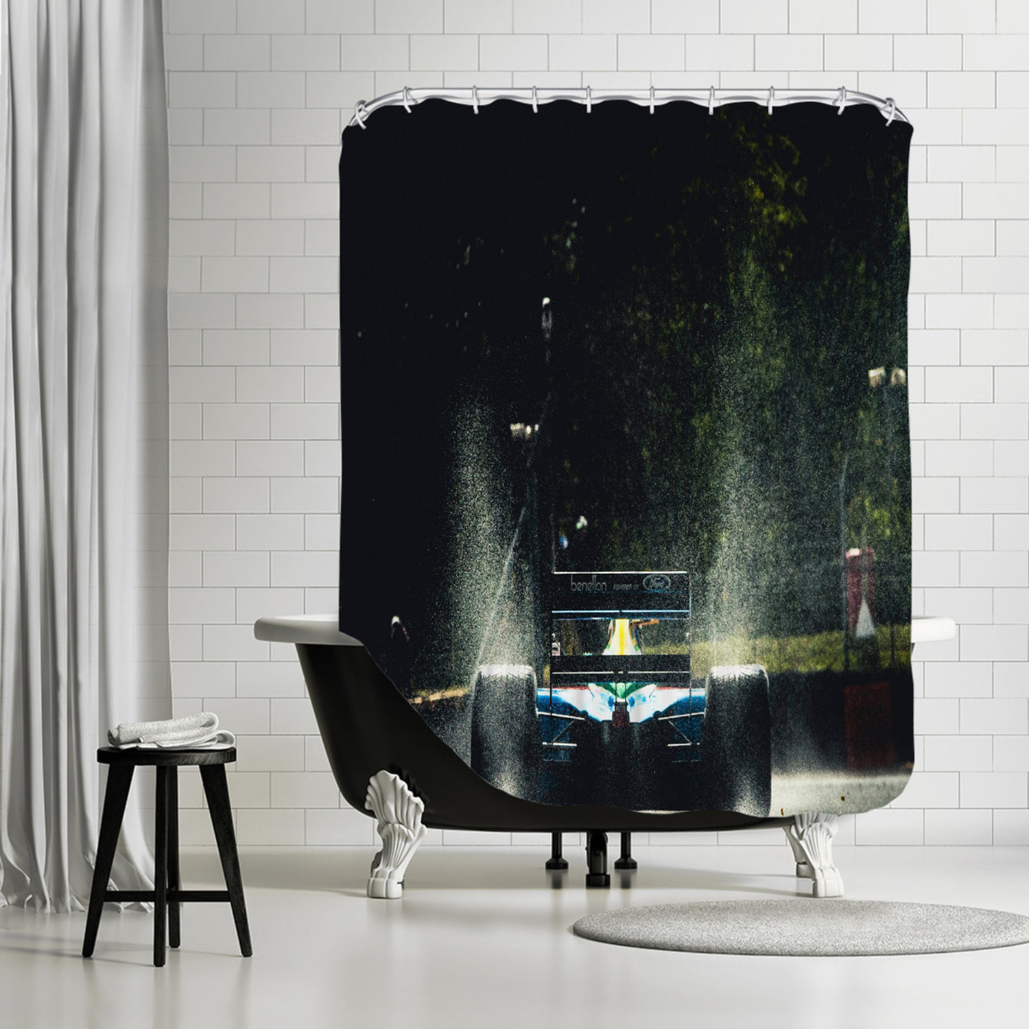 F1 Ford Shower Curtain