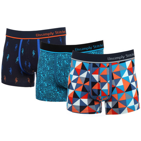No-Show Boxer Trunk // Tango // 3-Pack