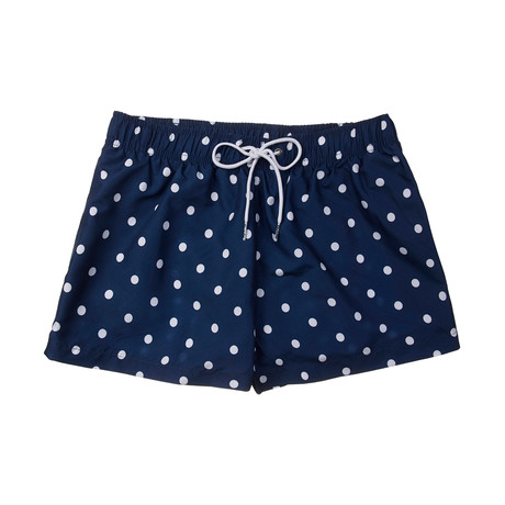 Bar Polka Shortie // Blue Multi