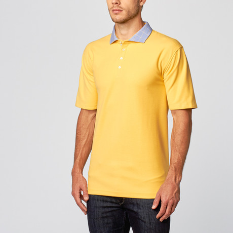 Carnegie Sport Fit Polo // Soft Yellow