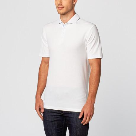 Hampton Sport Fit Polo // White