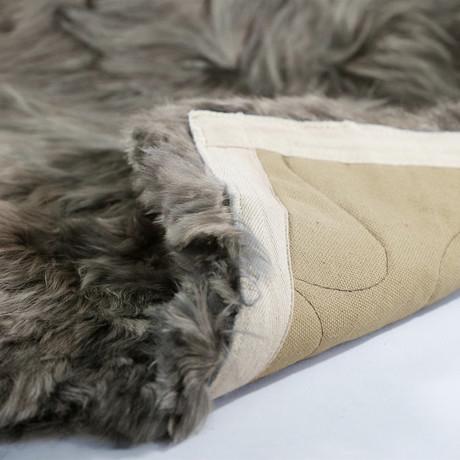 "Alpaca Couture // Suri Rug // 47"" x 71"" (Ivory)"