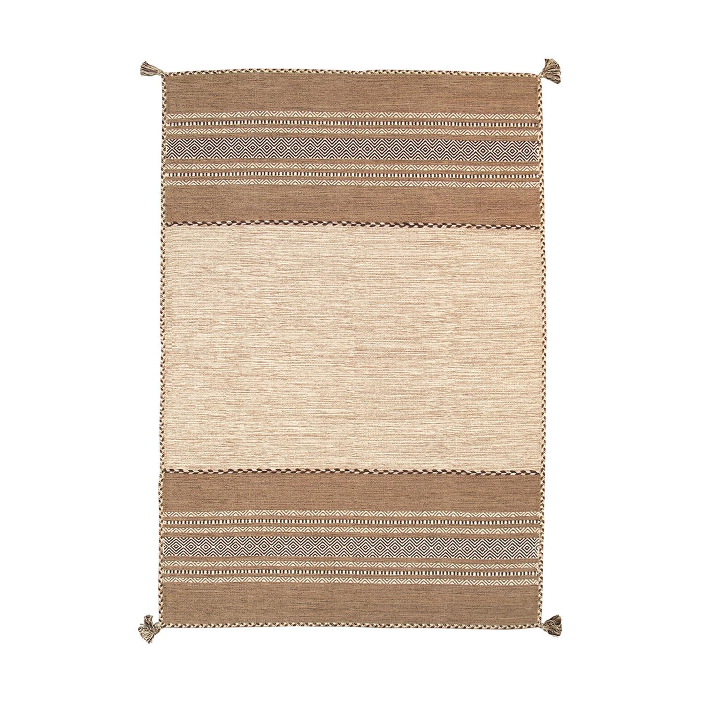 "Kilim Handwoven Rug // Ivory (7'6""L X 5'2""W)"