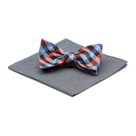 Colorful Bow Tie + Kingsport Square // Assorted Plaid + Stripe