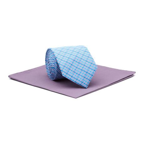 White Collar Tie + Matte Square // Blue + Eggplant
