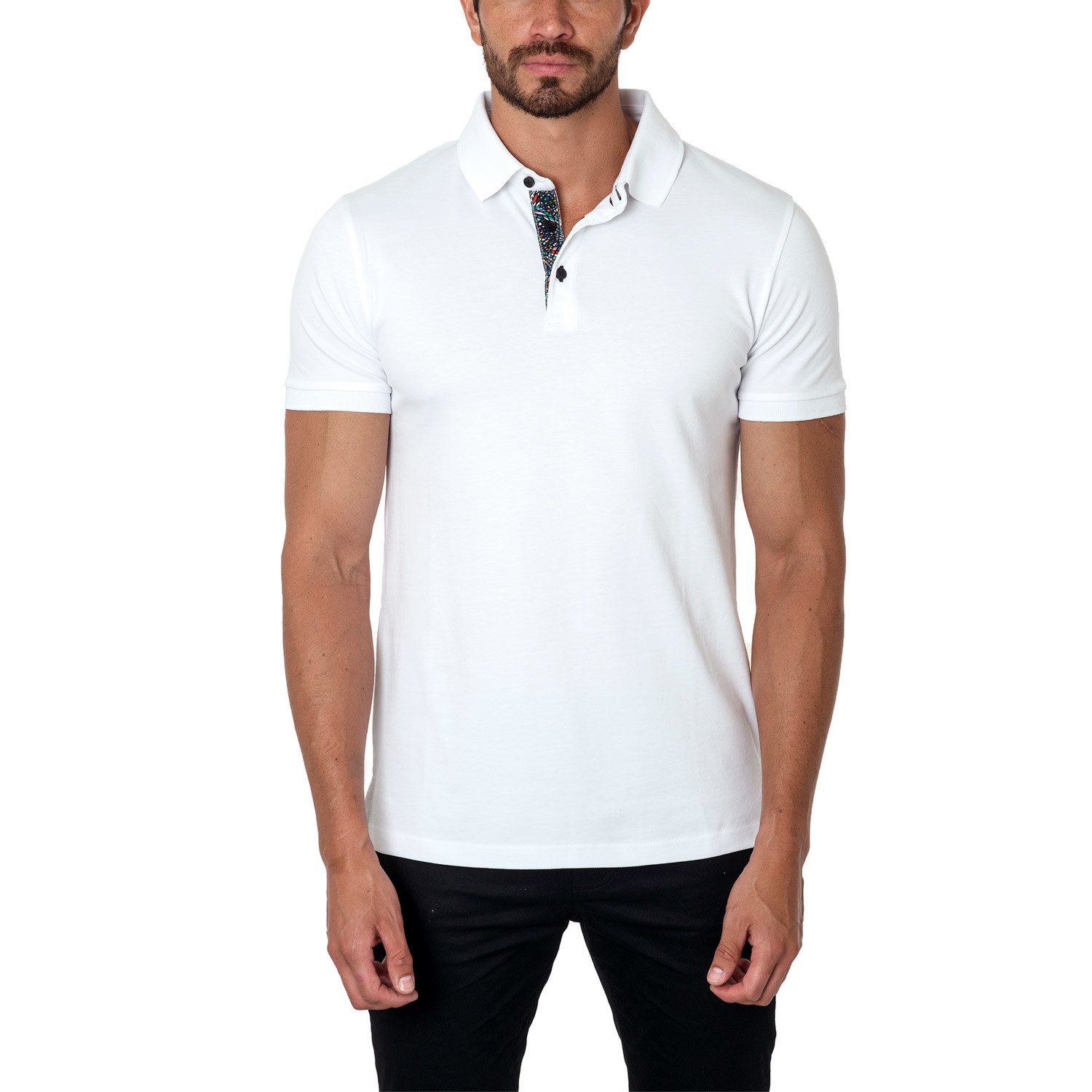 Jared Lang // Classic Short-Sleeve Polo // White (S ...