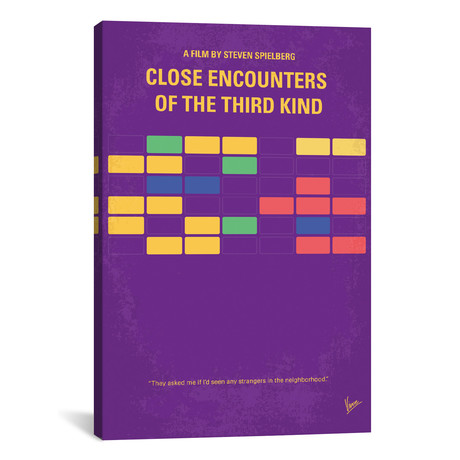 """Encounters Of The Third Kind Minimal Movie Poster // Chungkong (26""""W x 40""""H x 1.5""""D)"""