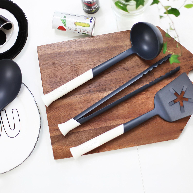 Kitchen utensil set dark grey quantumby touch of modern for Kitchen set grey