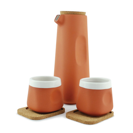 Terracotta Pitcher + Cups