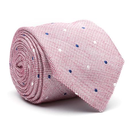 Uptown Skinny Tie // Pink Dot