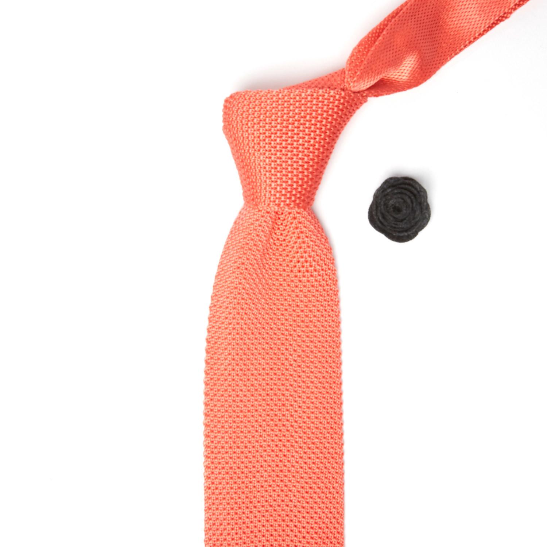Silk knit tie lapel flower coral yellow lapel flower silk knit tie lapel flower coral yellow lapel flower mightylinksfo