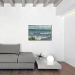 """Seascape Near Les Saintes Maries de la Mer // Vincent van Gogh // 1888 (18""""W x 26""""H x 0.75""""D)"""