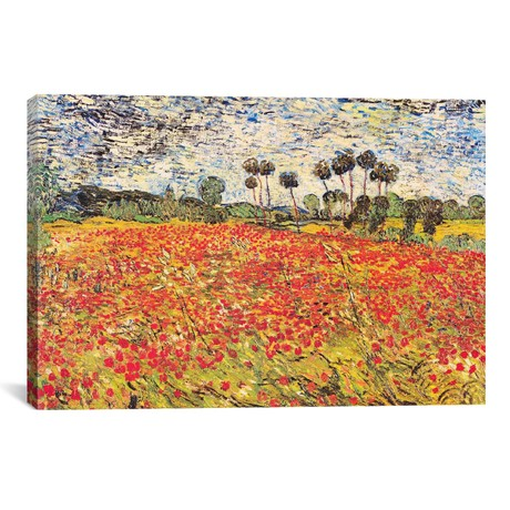 "Field of Poppies // Vincent van Gogh // 1888 (18""W x 26""H x 0.75""D)"