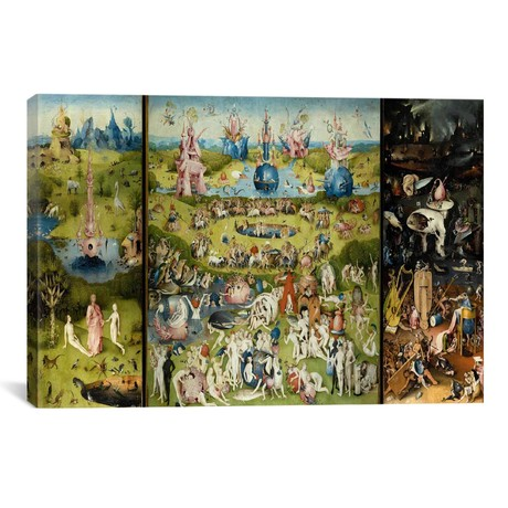 "The Garden of Earthly Delights 1504 // Hieronymus Bosch (40""W x 26""H x 1.5""D)"