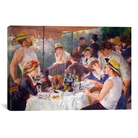 "The Luncheon of the Boating Party // Pierre-Auguste Renoir // 1881 (26""W x 18""H x 0.75""D)"